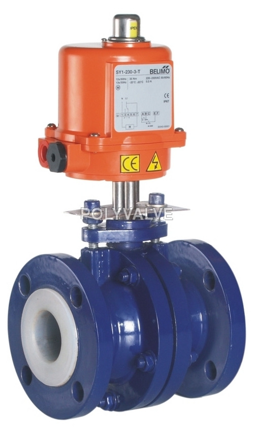 Pvdf electrical Ball Valve