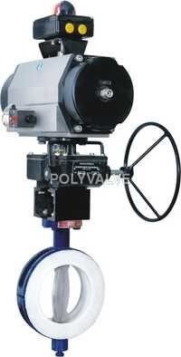 Pvdf pneumatic Butterfly Valve