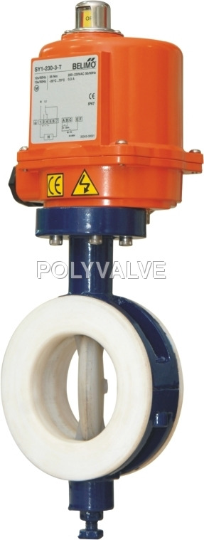Pvdf electric Butterfly Valve