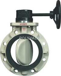 Pvdf Gear Type Butterfly Valve