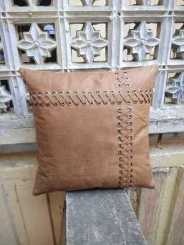 Leather  Handmade Cushion cover