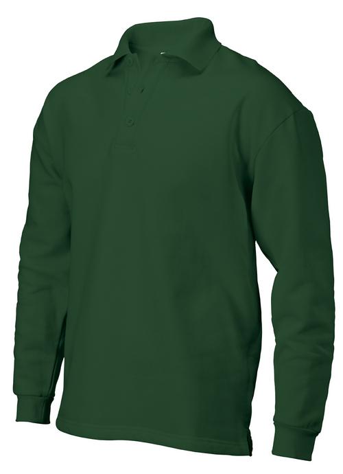 Full sleeves bottom green POLO T shirt