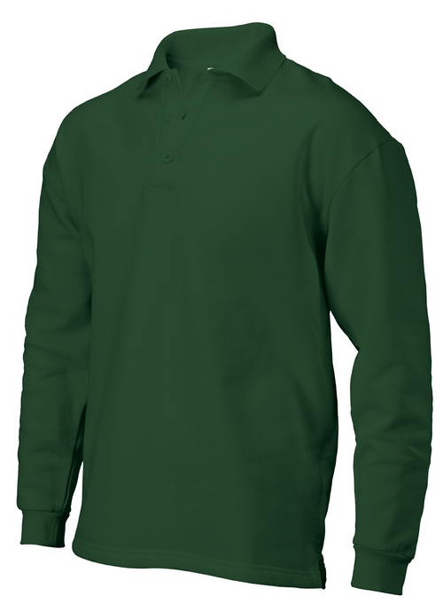 Full sleeves bottom green POLO T shirt