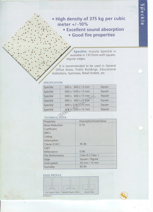 Insulation Roof Ceiling Tiles