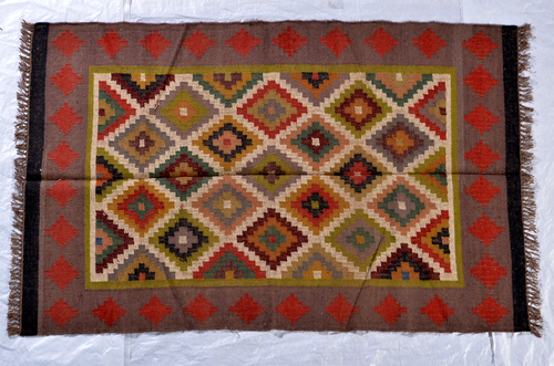 Wool Kilim Rug, Traditional Rug, Wool Jute Rug, Kilim Rug, Unique Rug