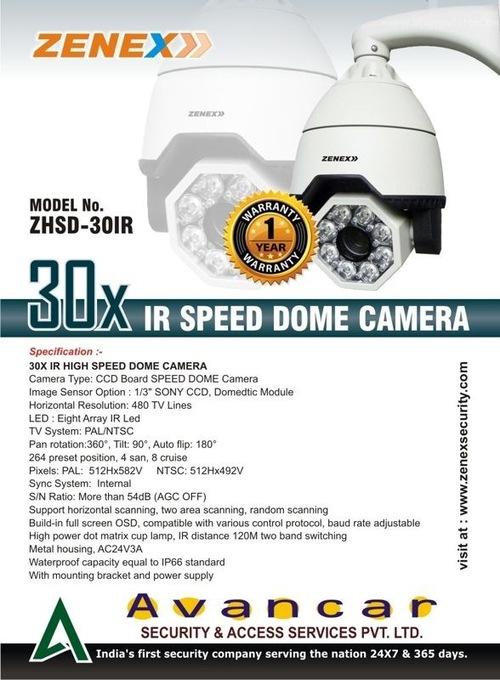 IR Speed dome camera