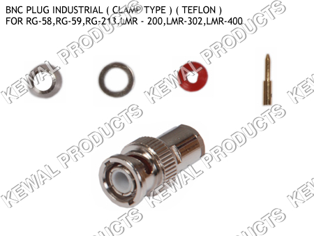 BNC Plug Clamp Type