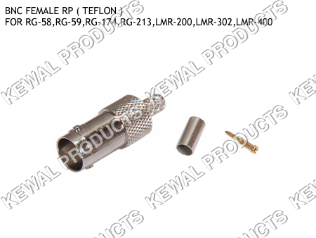 Reverce Polarity BNC Socket Crimp Type