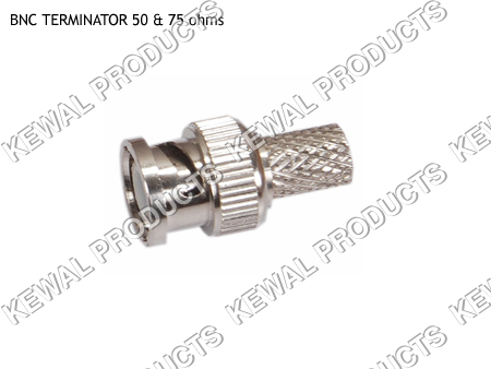 BNC Plug Terminator 50 / 75 ohms