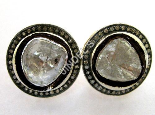Diamond Victorian Stud Earrings