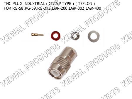 TNC Plug Clamp Type