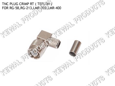 Right Angle TNC Plug Crimp Type