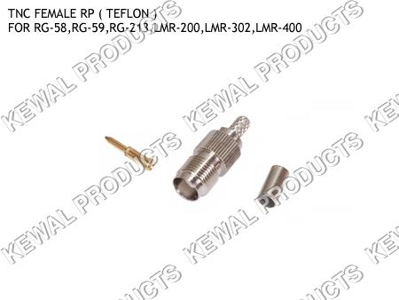 Reverce Polarity TNC Socket Crimp Type