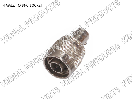 N Plug To BNC Socket Adaptor
