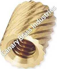 Brass Cross Knurled Inerts