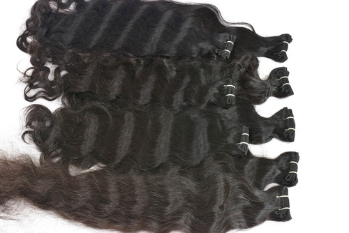 Indian temple Raw Virgin Machine Weft Hair