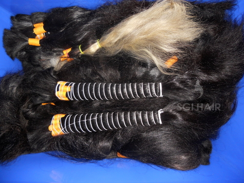 Temple Raw indian single drawn Bulk Human Hair