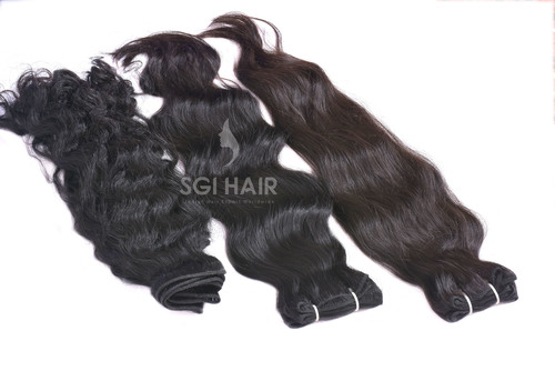 Indian Temple Hair Machine Weft