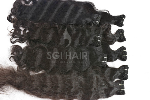 Raw Temple Human Hair weft
