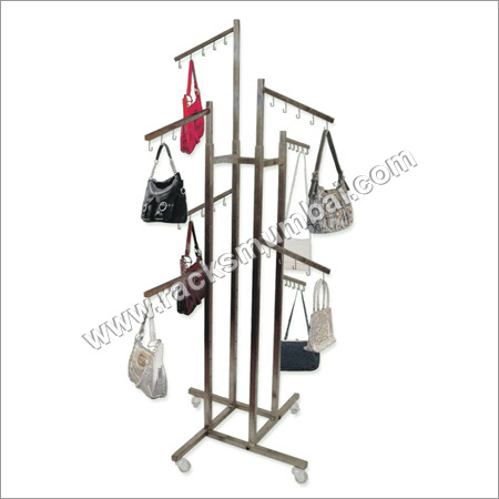 Racks for hand bags and clutches