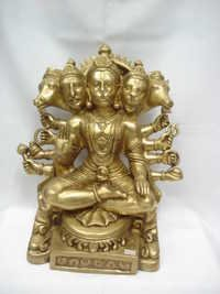 BRASS 5 FACE HANUMAN JI SITTING