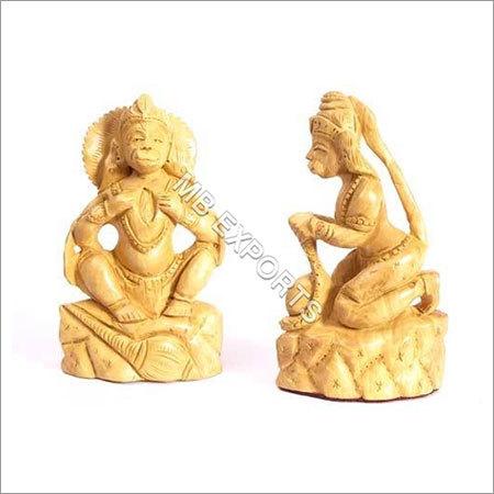 wooden craft hanuman