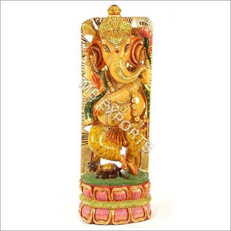 wooden craft Ganesh