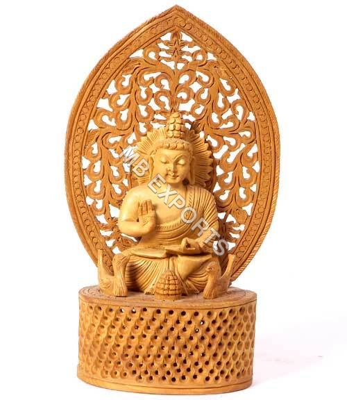 Wooden buddha craft