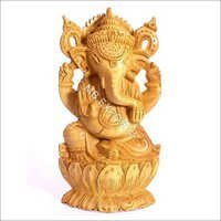 Lord Ganesh Wooden Sculpture
