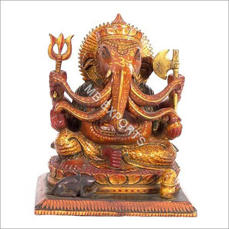 wooden sculpturer Ganesh