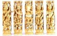 Wooden Indian Deities