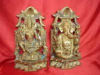BRASS LAXMI GANESH SET KALASH