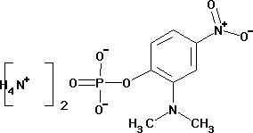 (2-Dimethylamino-4-nitrophenyl) phosphoric acid diammonium salt monohydrate