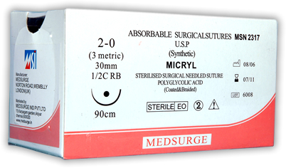 Sterilized Surgical Sutures