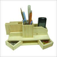 Multi Pine Wooden Pen Stand
