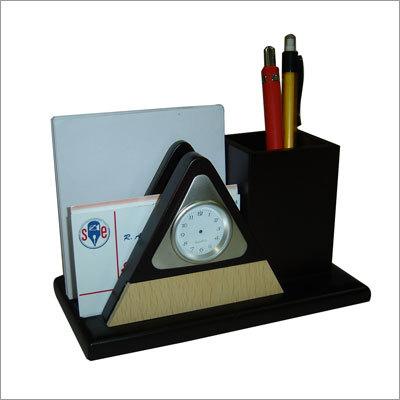 Wooden Pen & Card Holder