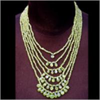 Semi Precious Stone String Green Necklace