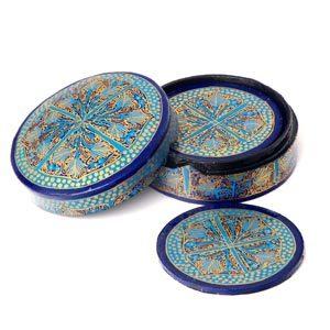 Antique Paper Mache Coasters