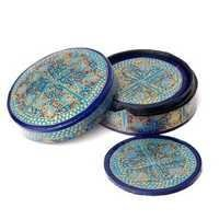Antique Paper Mache Coasters