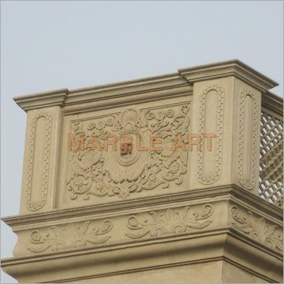Marbel Carved Panel