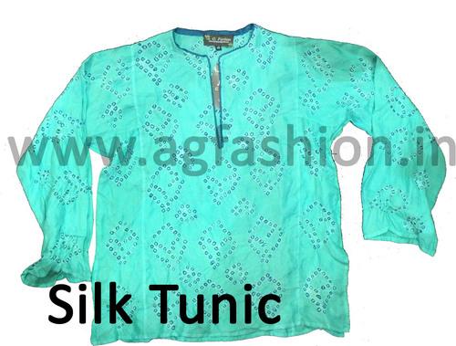 Silk Bandhani Tunic