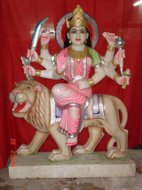 Durga Ji in white Marble
