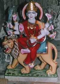 DURGA JI in white Marble