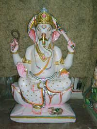 Ganesh Ji in White Marble