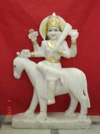 Sheetla Mata in White Marble