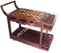 Wooden Wine Trolly