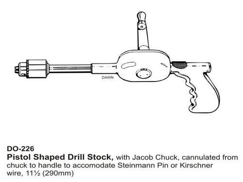 Pistol Shaped Drill Stock