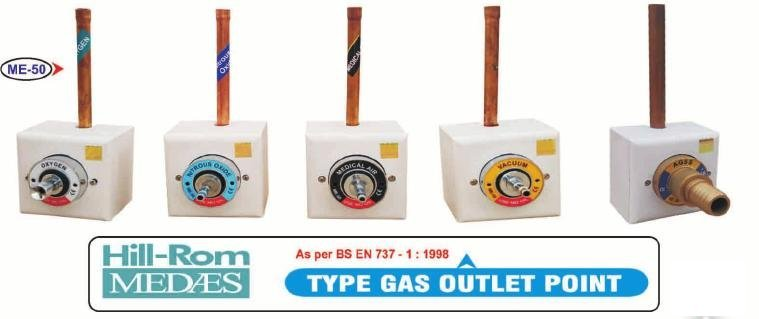 Hill Rom Medaes - Type Gas Outlet