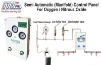 Semi Automatic Control Panel For Oxygen Gas