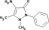 4-amino-2, 3-dimethyl-1-phenyl-3-pyrazolin-5-one